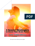 4 Secret Strategies to Boost Your Brainpower