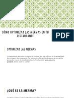 como optimizar mermas en tu restaurante