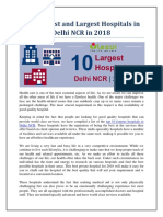 Top 10 Best and Largest Hospitals in Delhi NCR in 2018