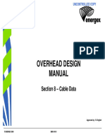 Overhead Design Manua Section 8 - Cable Data