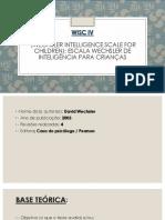 WISC 4. Informações Básicas