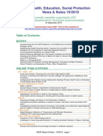 Health, Education, Social Protection News & Notes 19/2010