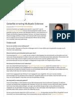 Interview over dissertatie Geleefde Ervaring Multipele Sclerose - Zorgethiek.nu