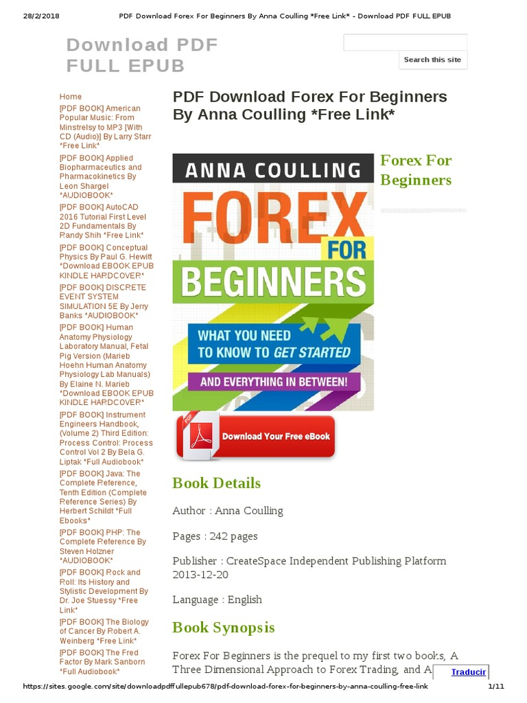 Forex основы pdf скачать enforex valencia facebook