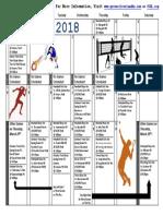 Sports Calendar March 2018