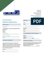 pet health scheme application form