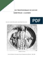 Alchimie - Transmission Traditionnelle d'Un Savoir