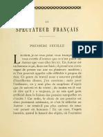 Marivaux - Le Spectateur Français, Feuille 1