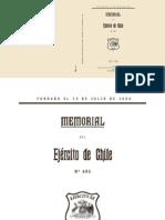 Memorial de Ejercito de Chile 493(Décembre2014)