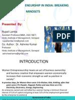 Women Entreprenuership in India (Seminar)