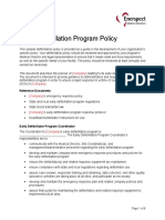 Sample Early Defibrillation Program Policy
