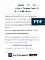 3 Top Strategies to Prepare Quant for SSC CGL Tier I 2017