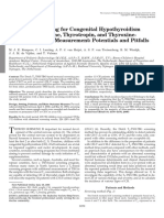 Neonatal Screening for Congenital Hypothyroidism Based on Thyroxine, Thyrotropin, And Thyroxine- Binding Globulin Measurement