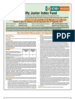 IDBI Nifty Junior Index Fund NFO Application Form