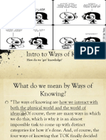 Intro to Ways of Knowing