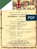 Locandina Concerto Segovia Scala 19711114SEGO_2115_C