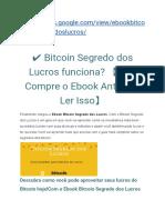 Ebook Bitcoin Segredo Dos Lucros