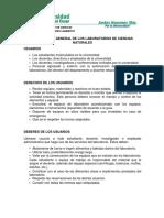 Protocolo de Los Laboratorios de Ciencias