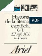 Historia de La Literatura Espanola 6 1 El Siglo XX Del 98 a La Guerra Civil
