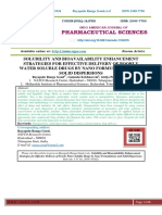 SOLUBILITY AND BIOAVAILABILITY ENHANCEMENT STRATEGIES FOR EFFECTIVE DELIVERY OF POORLY WATER SOLUBLE DRUGS BY NANO FORMULATIONS AND SOLID DISPERSIONS