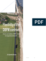 Flexibility of the DBFM Contract