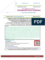 FORMULATION AND OPTIMIZATION OF LOSARTAN POTASSIUM SUSTAINED RELEASE TABLETS BY STATISTICAL EXPERIMENTAL DESIGN