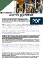 Entrevista con Matt Ball ESPAÑOL