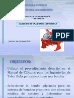 Ejemplo Seleccion de Bomba Para Agua