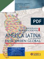 Posdoctorado America Latina Orden Global