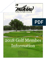 2018 Golf Newsletter