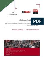 Balise d'opinion n°19 - Les Français et la capacité du gouvernement à réformer la SNCF