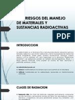 3.11 Riesgos Del Manejo de Materiales y Sustancias Radioactivas S-h