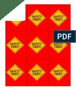 kwartet veiligheidspictogrammen rugzijde