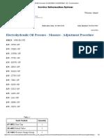 Electrohydraulic Oil Pressure - Measure - Adjustment Procedure
