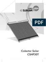 Manual Colector Solar Heat Pipe