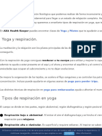 Tipos de respiración en Yoga y sus beneficios | Axa Healthkeeper