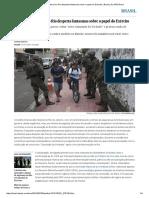 Intervenção Federal No Rio Desperta Fantasmas Sobre o Papel Do Exército _ Brasil _ EL PAÍS Brasil