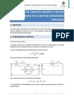 Ensayo de Circuito Aberto y Rotor Bloqueado en El Motor Asincrono Trifasico