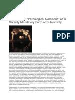 """""""Pathological Narcissus"""