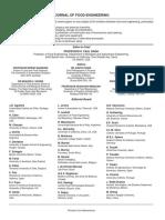 Editorial Board 2016 Journal of Food Engineering