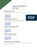 Lista de Símbolos Utilizados en Diagramas de Flujo