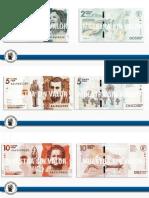 Así serían los nuevos billetes sin los tres ceros