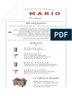 Da Mario Cocktail Menu