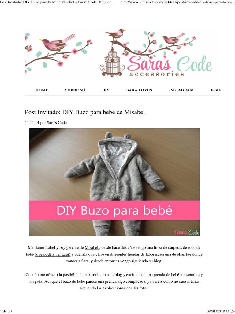 Post Invitado_ DIY Buzo para bebé de Misabel ~ Sara\'s Code_ Blog de ...