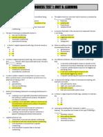 Unit 6 Progress Test 1 Answers