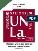 Métodos y Técnicas Para Los Estudios Universitarios