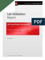Esg Lab Validation Report Emc Data Domain Avamar