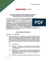 Cond. Todo Riesgo Eq. Maq de MApfre Peru Para Seguros