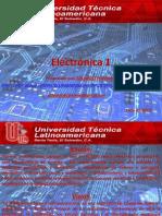 Presentación Del Curso de Electrónica 1_UTLA 01-2018