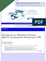 Configurar Un Windows XP Para Admitir Cone Xi Ones Remotas Por VPN